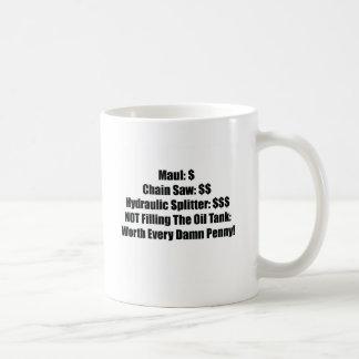 Oを満たさないMualのチェーンソーの油圧ディバイダー コーヒーマグカップ