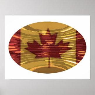 Oカナダ-芸術的なカエデの葉 ポスター
