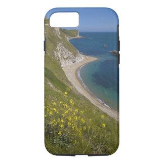 o戦争湾、ジュラ紀の海岸、Lulworth、ドーセットに人を配置して下さい、 iPhone 8/7ケース