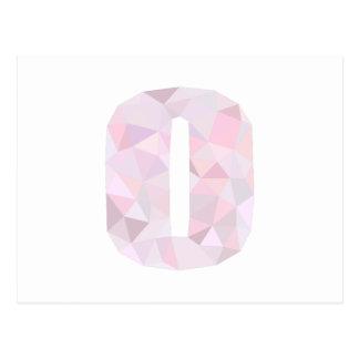 O -低い多三角形-中立ピンクの紫色の灰色 ポストカード
