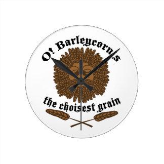 O! Barleycorn ラウンド壁時計