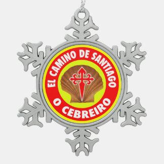 O Cebreiro スノーフレークピューターオーナメント