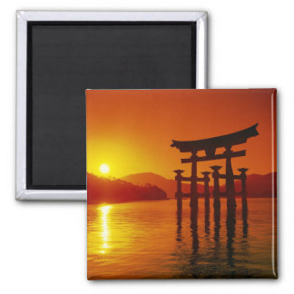 O-Toriiのゲート、Itsukushimaの神社、宮島、 マグネット