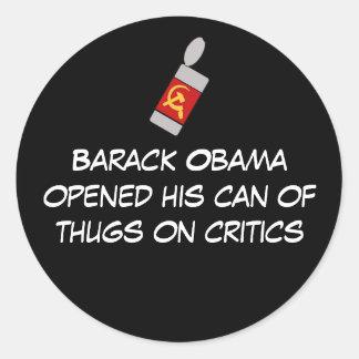 oabamscanofthugs、バラック・オバマのope… -カスタマイズ ラウンドシール