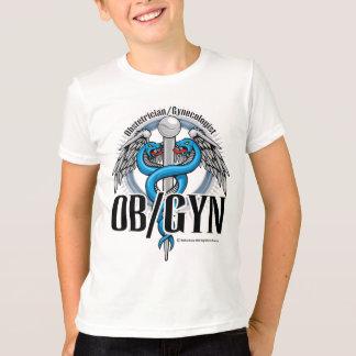 OB/GYNの青のケリュケイオン Tシャツ