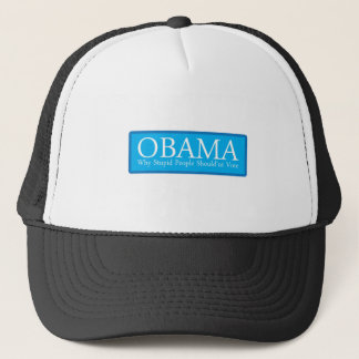 OBAMA-WHY-STUPID-PEOPLE キャップ