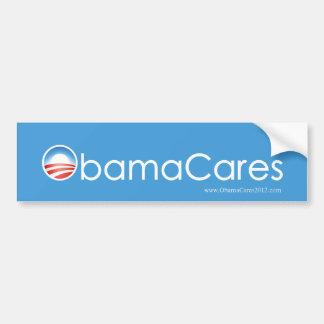 ObamaCaresのバンパーステッカー(スカイブルー) バンパーステッカー
