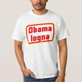 ObamalognaのTシャツの前部及び背部 Tシャツ