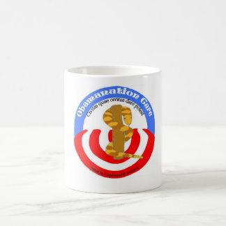 obamanationの心配のラテン コーヒーマグカップ