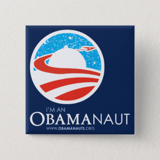 Obamanautの正方形ボタン 5.1cm 正方形バッジ