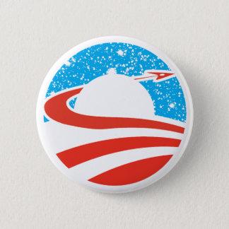 Obamanautボタン 5.7cm 丸型バッジ