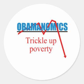 Obamanomics -窮乏の上の細流 ラウンドシール