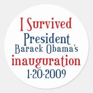 Obamas大統領の就任式 ラウンドシール