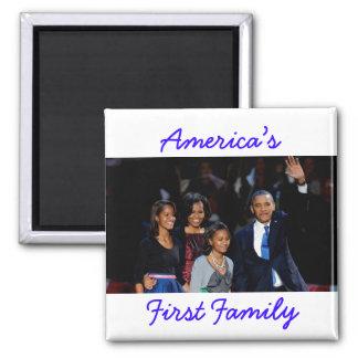 Obamas: アメリカの第1家族の磁石 マグネット