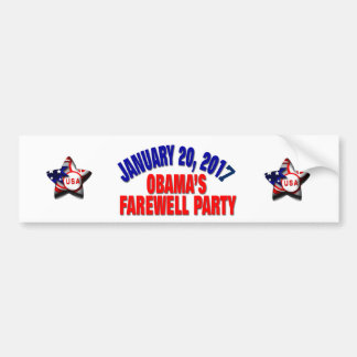 Obama's Farewell Party バンパーステッカー