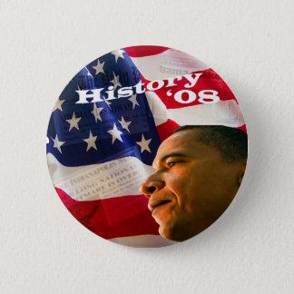 Obamat-shirt4 5.7cm 丸型バッジ