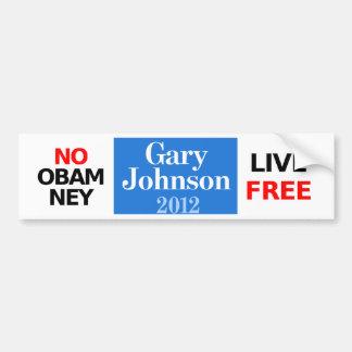 Obamney -ギャリージョンソンのバンパーステッカー無し バンパーステッカー