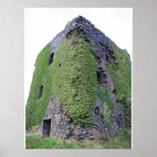 Obanスコットランドの城 ポスター