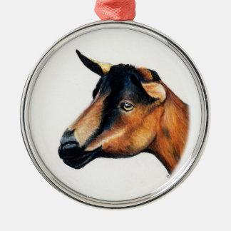 Oberhasliのヤギの芸術のオーナメント メタルオーナメント
