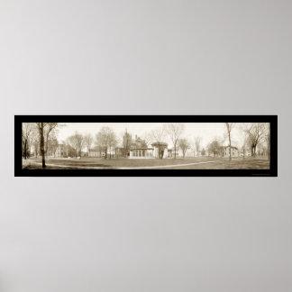 Oberlinの大学、オハイオ州の写真1909年 ポスター