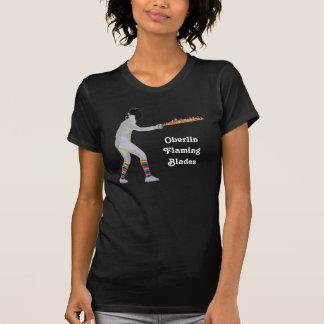 Oberlinの燃えるような刃-女性 Tシャツ