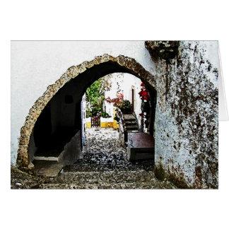 Obidosポルトガルのアーチ道 カード