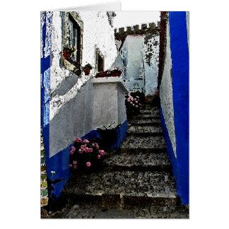 Obidosポルトガルの店そしてステップ カード