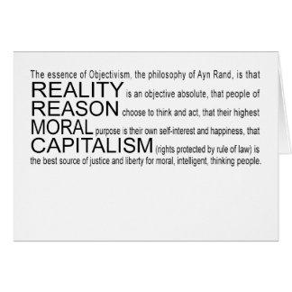Objectivismの挨拶状 カード