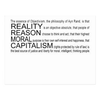 Objectivismの郵便はがき ポストカード