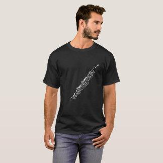 Oboeのシルエットの黒 Tシャツ