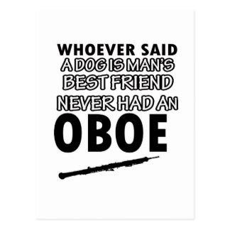 oboeのデザイン ポストカード