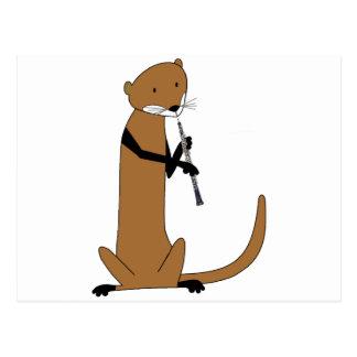 Oboeを遊んでいるカワウソ ポストカード