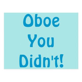 Oboe郵便はがき ポストカード