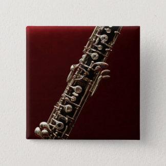Oboe -ダブルリードの木管楽器の楽器 5.1cm 正方形バッジ