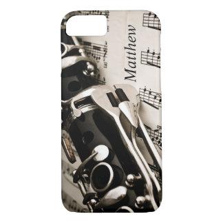 Oboistsのクラリネット奏者のための名前入りなギフト iPhone 8/7ケース