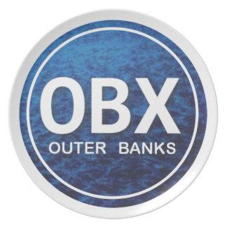 OBXのビーチのラベルのプレート プレート