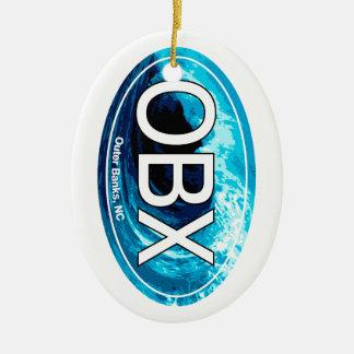 OBXの外銀行は楕円形を振ります セラミックオーナメント