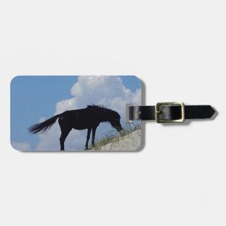 OBXの野生の馬 ラゲッジタグ