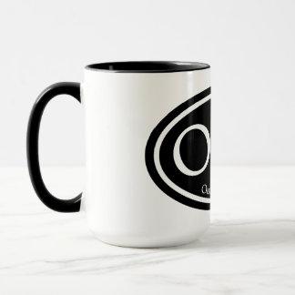OBX外銀行黒の楕円形 マグカップ