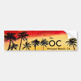 OCニューポートビーチカリフォルニアのバンパーステッカーの芸術 バンパーステッカー