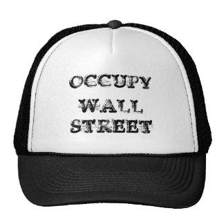 Occupy wall streetのトラック運転手の帽子 トラッカー帽子