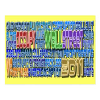 Occupy wall streetの戦いの貪欲の高いデザイン ポストカード