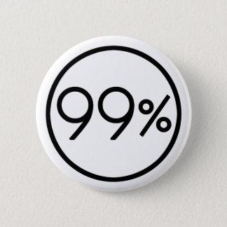Occupy wall street私達は99%ボタンです 5.7cm 丸型バッジ