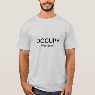 Occupy wall street (シンプル) tシャツ