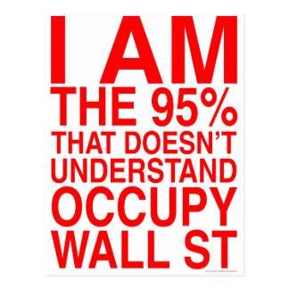 Occupy wall street ポストカード