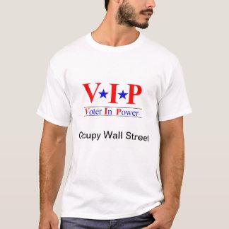 Occupy wall street -力の投票者 tシャツ