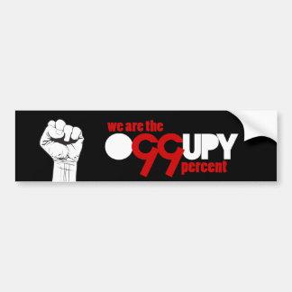 Occupy wall street -私達は99%です バンパーステッカー
