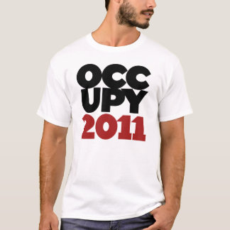 Occupy wall street 2011年 tシャツ
