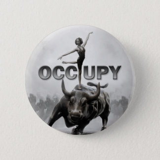Occupy wall street 5.7cm 丸型バッジ