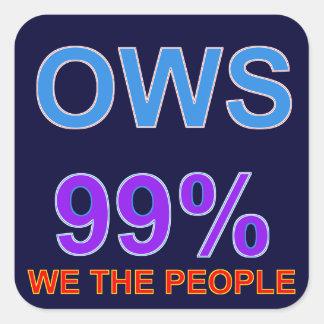Occupy wall street 99%私達人々 スクエアシール